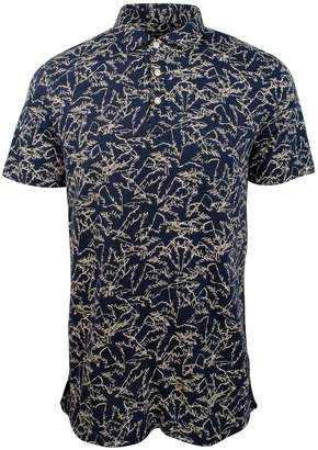 Michael Kors Men's Palm Print Polo Shirt-M-L