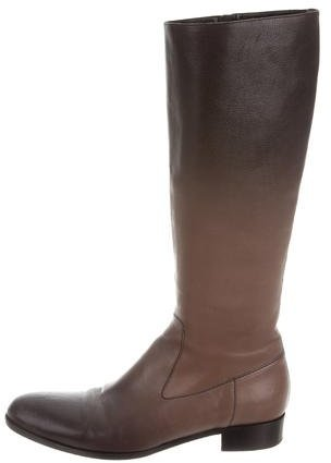 prada Prada Leather Knee-High Boots