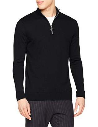 New Look Men's Half Zip 6080101 Jumper,(Manufacturer Size:52)