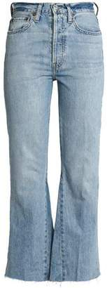 RE/DONE Faded High-Rise Bootcut Jeans