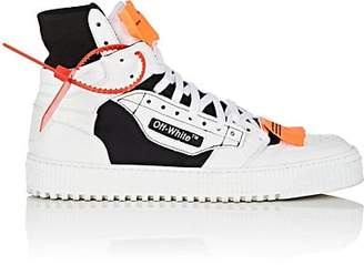 Off-White Off - White c/o Virgil Abloh Men's 3.0 Leather & Canvas Sneakers - White