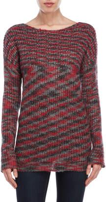 Derek Heart Split Back Sweater