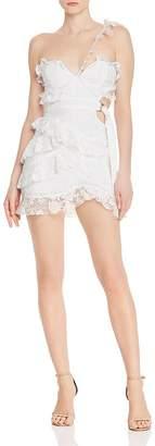 For Love & Lemons Lucien Asymmetric One-Shoulder Mini Dress
