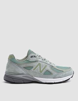 New Balance 990 Sneaker in Silver Mint