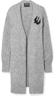 Markus Lupfer Roisin Oversized Embellished Knitted Cardigan - Gray