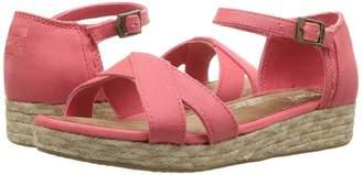 TOMS Kids Harper Wedge Girls Shoes