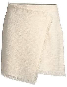 LIKELY Women's Jules Tweed Wrap Mini Skirt