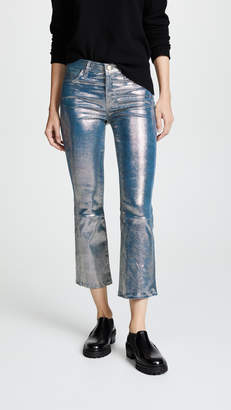 J Brand Selena Crop Bootcut Leather Pants