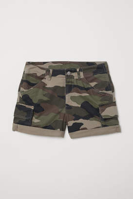 H&M Short Cargo Shorts - Green