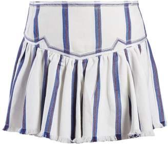 Etoile Isabel Marant Delia gathered striped skirt