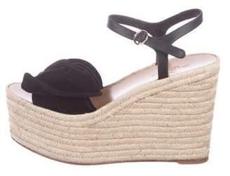 d7c75a0e09f Valentino Black Platform Wedge Sandals For Women - ShopStyle Canada