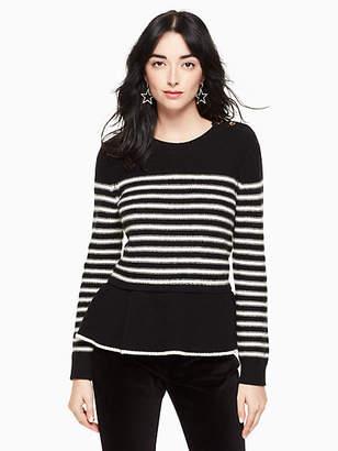 Kate Spade Stripe peplum sweater