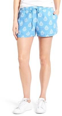 Women's Vineyard Vines Medallion Print Linen Blend Shorts $78 thestylecure.com