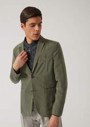 Emporio Armani Single-Breasted Cupro Jacket