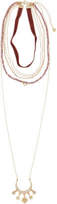 Lydell NYC Layered Choker Charm Pendant Necklace