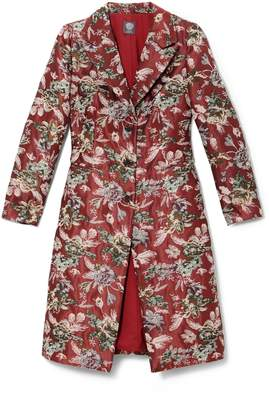 Vince Camuto Floral Tapestry Coat