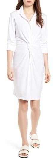 Twist Waist Brushed Jersey Dress