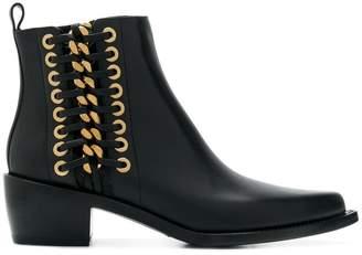 Alexander McQueen Cuban braided chain boots