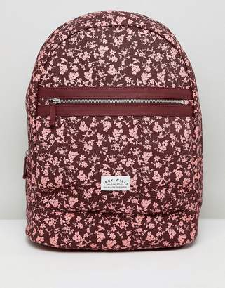 Jack Wills floral print backpack
