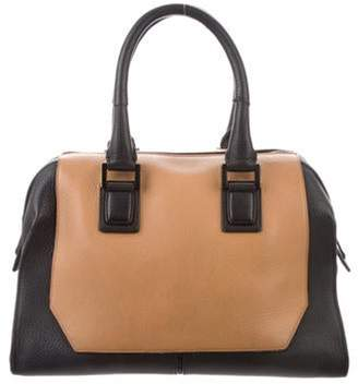 Narciso Rodriguez Textured Leather Satchel Black Textured Leather Satchel