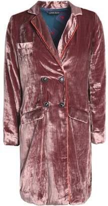 Love Stories Double-Breasted Velvet Robe