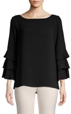 Calvin Klein Tiered-Sleeve Boatneck Top