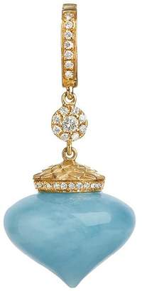 Annoushka Touch Wood Gold Aquamarine Charm
