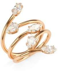 Anita Ko 18K Rose Gold& Diamond Vine Ring