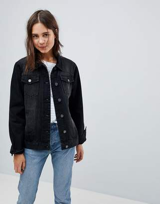Brave Soul Fielding Longline Denim Jacket