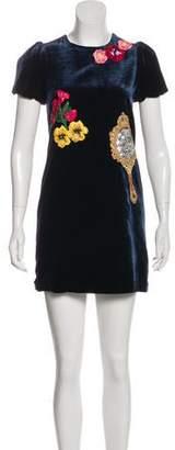 Dolce & Gabbana 2016 Velvet Dress