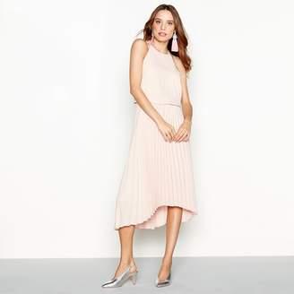Debut Rose Chiffon Pleated 'Paris' High Low Dress
