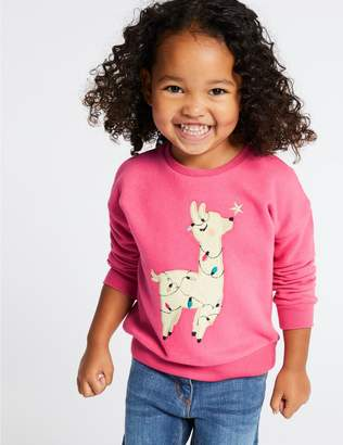 Marks and Spencer Llama Sweatshirt (3 Months - 7 Years)