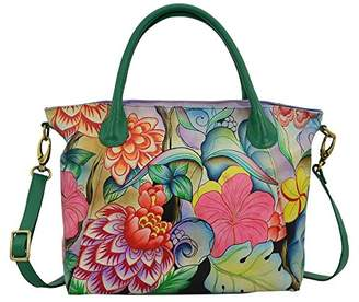 Anuschka Anna by Women's Genuine Leather Large Slouch Tote Bag | Hand Painted Original Artwork |