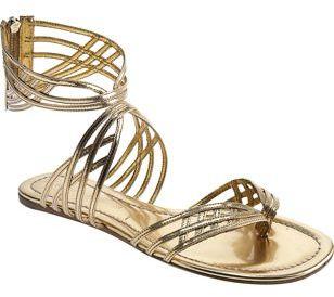 Sigerson Morrison Web Thong Sandal- Gold