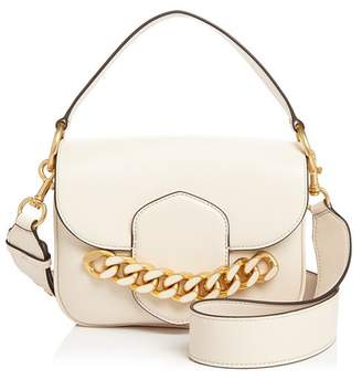 Tory Burch Jessie Chain-Embellished Leather Satchel