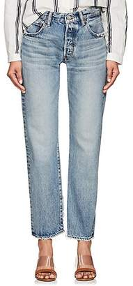 Moussy VINTAGE Women's Mayer High-Rise Straight Jeans - Blue