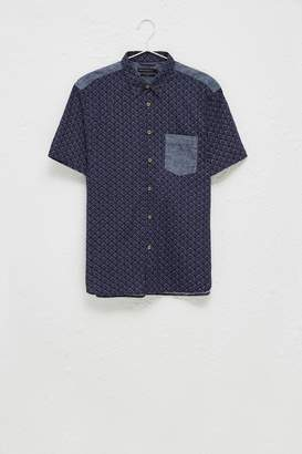 French Connenction Kast Tile Short Sleeve Shirt