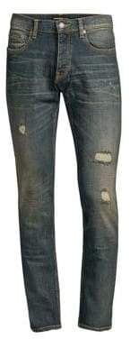 The Kooples Destroyed Slim-Fit Stretch Cotton Jeans