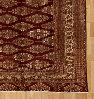 Rejuvenation Large Hand Knotted Afghani Turkoman Rug