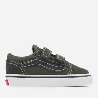 0219cba81d0d Vans Toddlers  Old Skool Velcro Trainers - Duffel Bag Black