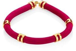 Lizzie Fortunato Double Take Suede Tube Necklace