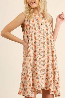 Umgee USA Floral Keyhole Dress