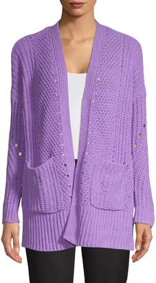 Style&Co. Style & Co. Petite Chenille Open-Front Cardigan