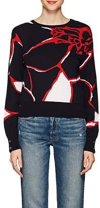 Thom Browne WOMEN'S FLORAL CASHMERE SWEATER