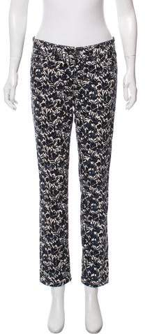 Tory Burch Mid-Rise Printed Jeans