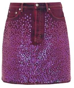 Acne Studios Sharmayne sequinned denim skirt