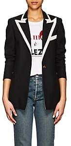 BLAZÉ MILANO Women's Plaid Wool One-Button Blazer - Black