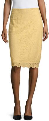 Liz Claiborne Spring Bouquet Womens Midi Pencil Skirt