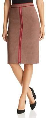 BOSS Voliviena Zip-Front Plaid Skirt
