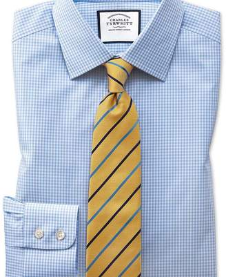 Charles Tyrwhitt Classic fit small gingham sky blue shirt